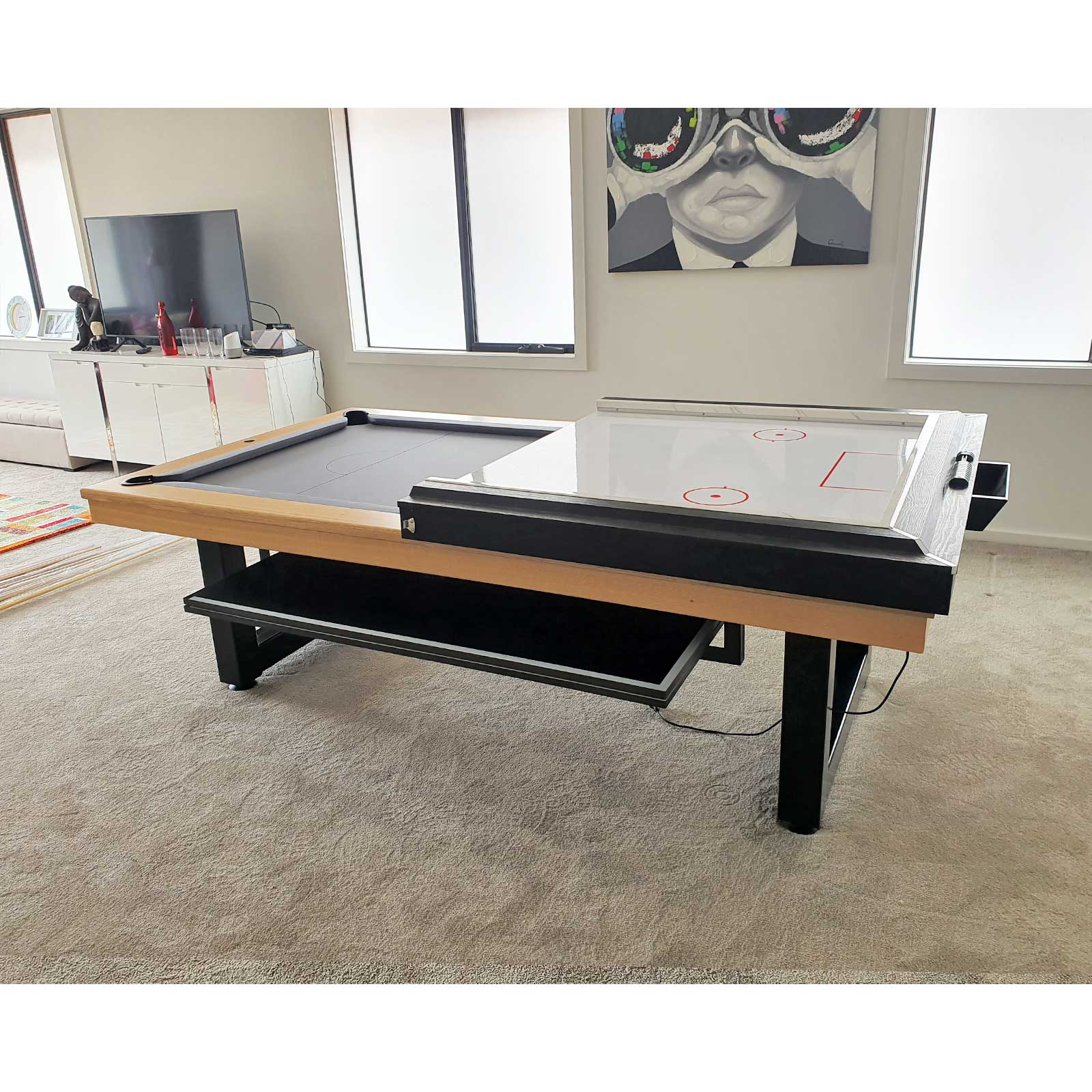 8ft 2 pc. PVC Air Hockey Table Top - Cyclone