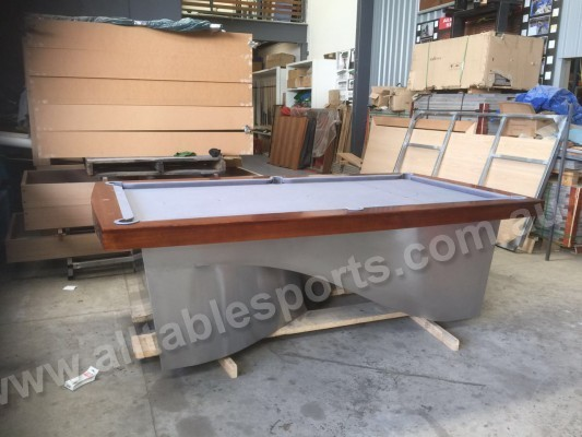 8 Foot Slate Ultra Modern Infinity Pool Billiards Table