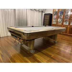 8 Foot Slate American Styled Billiards 9 Ball Table - Black body with Blue felt