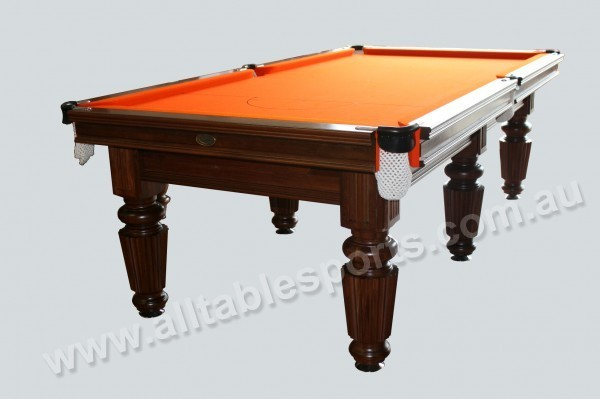 8 Foot Slate Crown mahogany wood Billiard Table