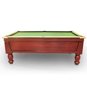 8 FT Slate Modern Pub/Hotel Bar Coin Operated Billiard Table with Traditional Turned Leg