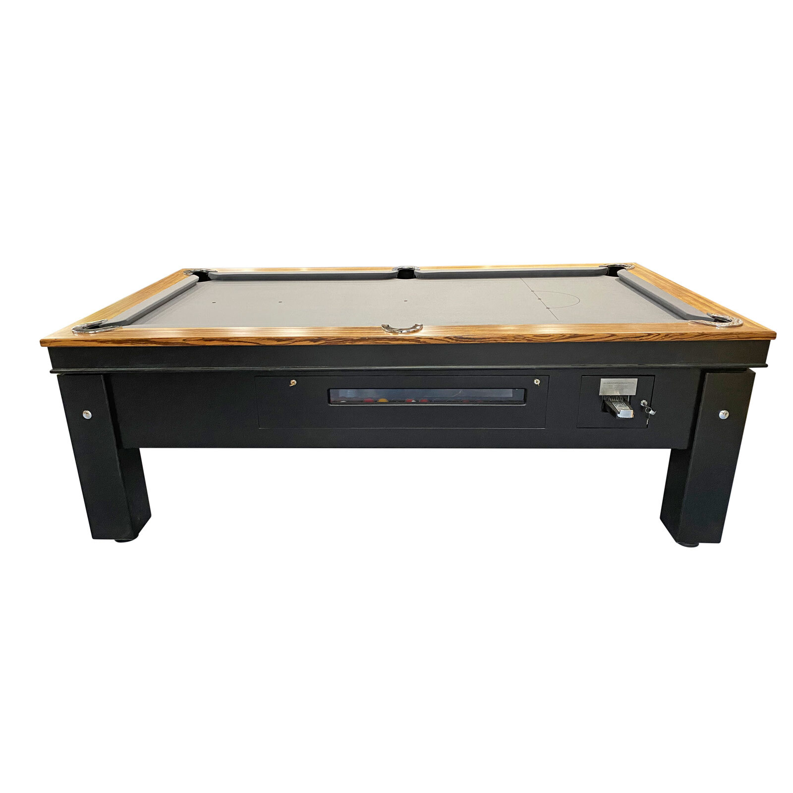 7 Foot Slate Coin Operated Pool Table with timber top & Legs (optional LED decoration)