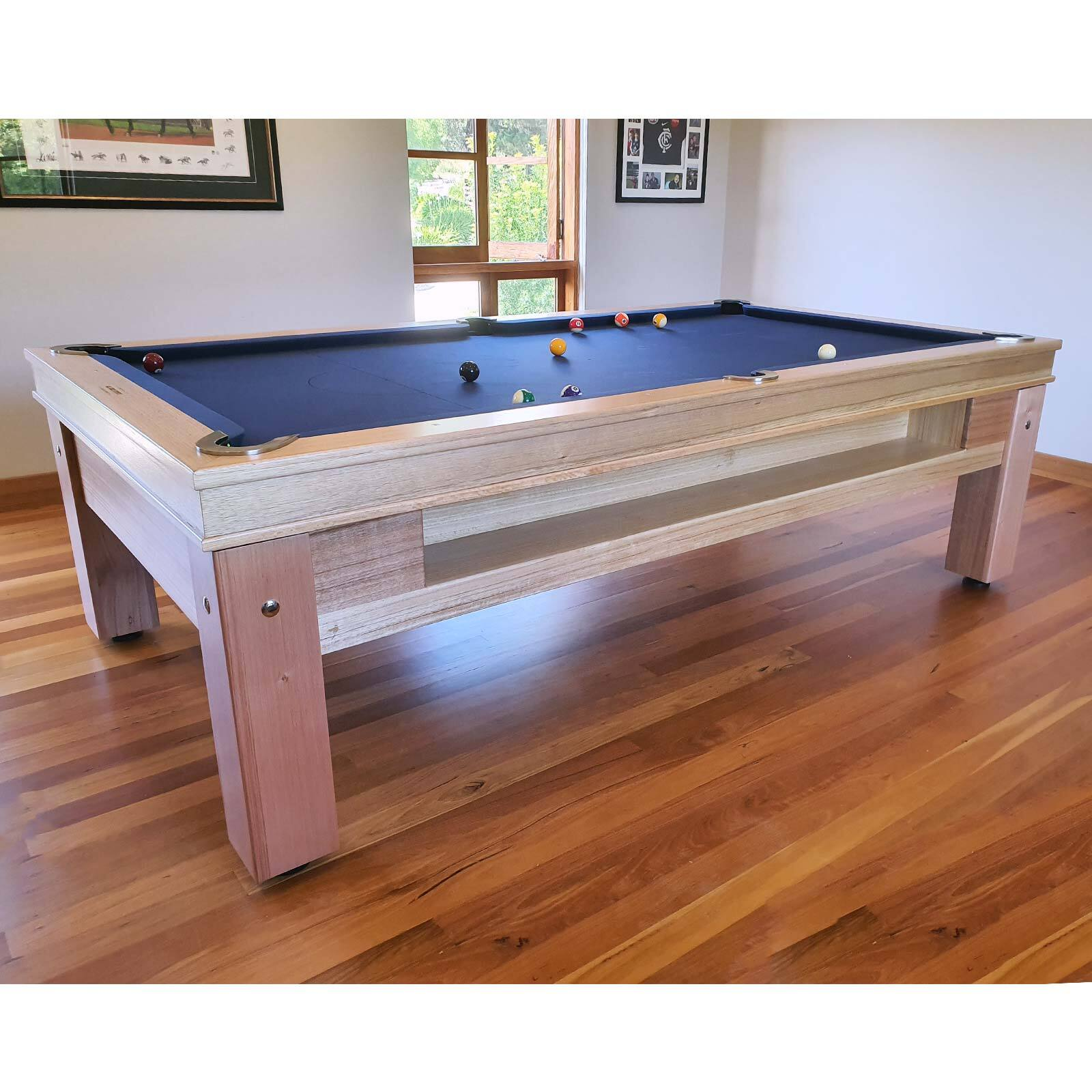 8 Foot Slate Evolution Ball Return Pub Pool Billiard Table - With Storage; MDF base