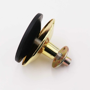 Solid brass adjustable foot with nut