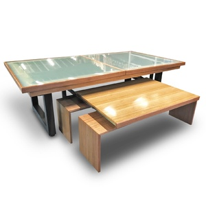 7 Foot Slate Odyssey Out Door All-In-One Pool Dining Table