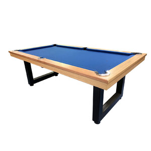 Pre-made 7 Foot Slate Odyssey Pool Billiards Table, Tassie Oak Timber