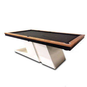 Pre-Made 8 Foot Slate CyberPool Indoor Billiards Table with Zebra Timber