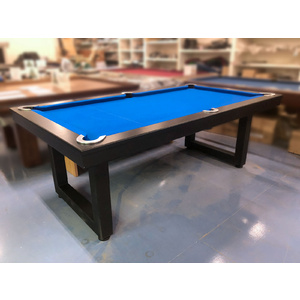 Special - 7 Foot Slate Odyssey Pool Billiards Table with Blue Felt, Black Steel Frame